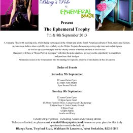 Ephemeral Trophy and WS Fashion Show