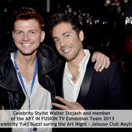 Celebrity Stylist Walter Stojash and Celebrity Yurj Buzzi - Ambassador of Martini