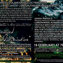 Danish Wakeel fashion show on the closing day of London Fashion Week Feb 2013