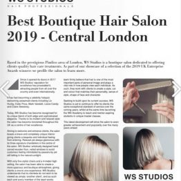 sme news best boutique hair salon 2019 central london ws studios